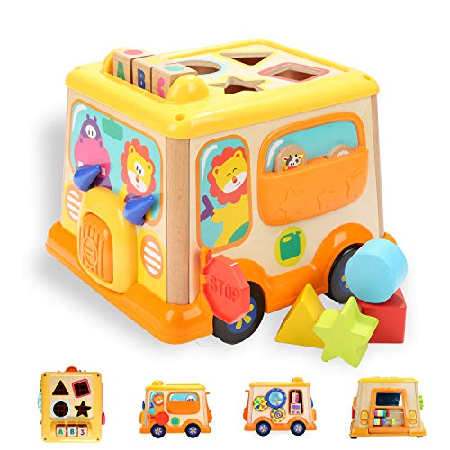 - TOP BRIGHT Activity Cube for 1 2 Year Old Girl Boy Gift,Wooden Educational Baby Toy for Age 18 Month
