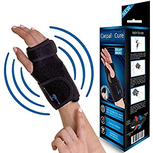 CarpalCure wrist brace- GUARANTEED Pain Relief WITH ONE BUTTON CLICK. Effective With Carpal Tunnel Syndrome, Tendonitis & Arthritis, Sprained Wrist And More. PERFECT For Day And Night Use (Right.)