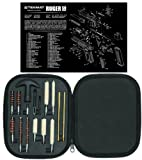 Ultimate Arms Gear Gunsmith & Armorer's Cleaning Work Bench Gun Mat Ruger SR 9 ( SR 40 ) + Professional Tactical Cleaning Tube Chamber Barrel Care Supplies Kit Deluxe 17 pc Handgun Pistol Cleaning Kit in Compact Molded Field Carry Case for .22 / .357 / .38 / 9mm / .44 / .45 Caliber Brushes, Swab, Slotted Tips and Patches