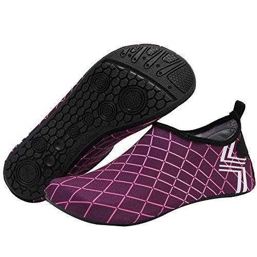 CIOR Männer und Frauen Barfuß Haut Aqua Schuhe Rutschfeste Multifunktionale Wasserschuhe Für Strand Pool Surf Yoga Übung H.dark Pink01