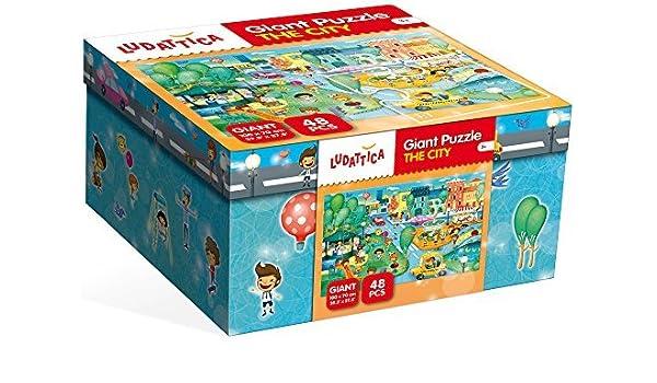 Giant Floor Puzzle, The City by Ludattica: Amazon.es: Juguetes y juegos