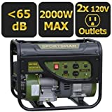 Sportsman Gasoline 2000W Portable Generator with Weatherproof Inverter Generator Cover and Magnetic Oil Dipstick Bundle For Sale