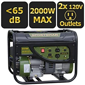 Sportsman Gasoline 2000W Portable Generator with Weatherproof Inverter Generator Cover and Magnetic Oil Dipstick Bundle