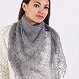 Orenburg shawl down-hair knitting, Orenburg Scarf, warm gossamer shawls tippet stole