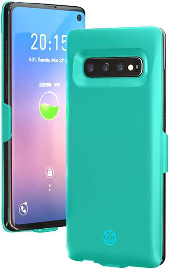 Green Battery Case for Galaxy S10 7000mAh Portable Charger Rechargeable Portable Charging Protective Cover HONTECH Galaxy S10 Battery Case