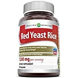 Amazing Nutrition Red Yeast Rice 1200 Mg 120 Capsules - Supports Cardiovascular and Immune Health