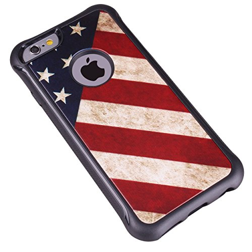 True Color Case Compatible with iPhone 6s Case, Patriotic Vintage American Flag Printed Impact Resistant TPU Protective Anti-slip Grip Snap-On Soft Rugged Cover by TrueColor (Image #3)
