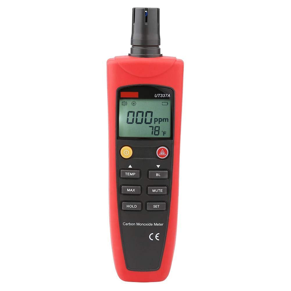 Naroote Compteur de monoxyde de Carbone,D/étecteur de CO Testeur de CO de mesureur de monoxyde de Carbone avec Affichage de r tro clairage de lalarme sonore et Lumineuse UT337A