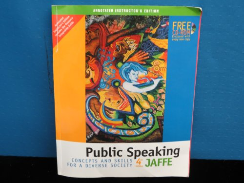 Public Speaking: Concepts and Skills for a Diverse Society, Annotated Instructors Edition. 4th