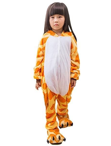MissFox Kigurumi Pijamas Unisexo Niños Traje Disfraz Niños Animal Pyjamas Jirafa 125