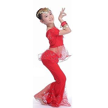 Wgwioo Danza del Vientre Conjunto de niños India Chica Tulle ...