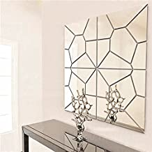 7Pcs 2 Colors Geometry Mirror Wall Sticker Moire Pattern Mural Decal Art Home Decor