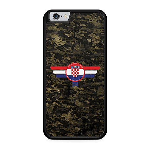 Hrvatska Kroatien Camouflage - Hülle für iPhone 6 & 6s SILIKON Handyhülle Case Cover Schutzhülle - Croatia Flagge Flag Military Militär