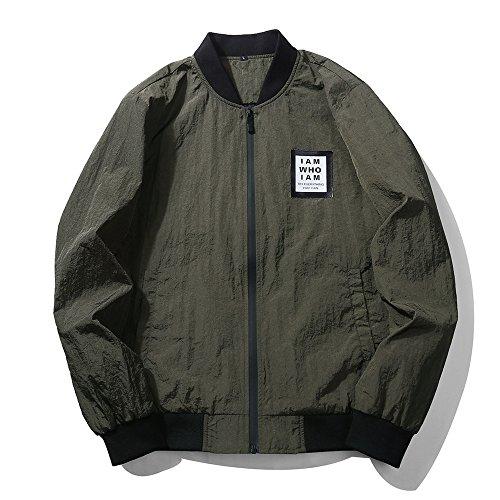 Slim Dell'esercito Invernale Collare Giacca Giacca Uomini Gli Casual Moda Della verde xxl v4YHqpg