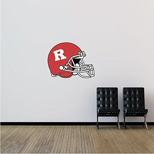 Rutgers Scarlet Knights NCAA USA Helmet Logo College Sport Art Wall Decor Sticker 25'' x 19''