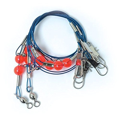 Double Rig - Eagle Claw L840-VP1 Double Drop Blue Steel Wire Rig Value Pack, 23