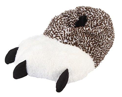 Lukis Unisex Erwachsene Flache Hausschuhe Plüsch Pantoffeln Tier Indoor Winter Wärmeschuhe Khaki