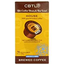 CBTL House Brew Coffee Capsules By The Coffee Bean & Tea Leaf, 16-Count, 128 grams