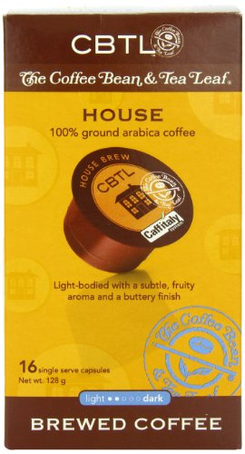 CBTL House Brew Coffee Capsules By The Coffee Bean & Tea Leaf, 16-Count, 128 grams by Coffee Bean & Tea Leaf