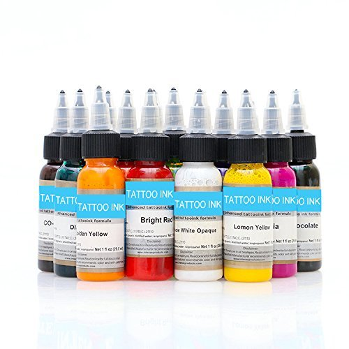 Wholesale-14pcs BAODELI tattoo ink set pigments permanent makeup 30ml cosmetic color tattoo ink for eyebrow eyeliner lip Fitow