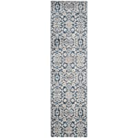 Safavieh Sofia Collection SOF381C Vintage Blue and Beige Distressed Runner (22 x 12)