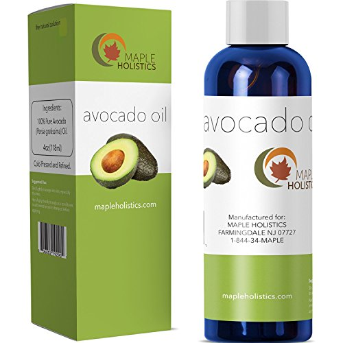 - 100% Pure Avocado Oil - Deep Tissue Moisturizer for Hair, Face & Skin - Rich in Retinol & Vitamin E to Reduce Wrinkles - Supports Skin Rejuvenation & Hair Growth - 4 Oz - USA Made By Maple Holistics