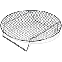 Chrome-Plated Cross-wire Cooling Rack, Wire Pan Grate, Baking Rack, Icing Rack, Round Shape, 2-Height Adjusting Legs - 10 ½ Inch Diameter