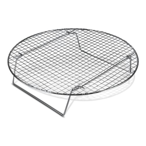 Chrome-Plated Cross-wire Cooling Rack, Wire Pan Grate, Baking Rack, Icing Rack, Round Shape, 2-Height Adjusting Legs - 10 ½ Inch Diameter (1)