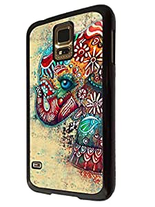 Cute Funky Colourfull Aztec Elephant Blue Eye Design Fashion Trend BLack CASE Back COVER For All iphone 4 4S , iphone 5 5S , iphone 5C , Sony Xperia Z1 , Xperia Z2 , Sony Xperia Z1 compact /Mini htc one M7 ,htc one M8 Samsung Galaxy S3 , Galaxy S4 , galaxy S5 , Galaxy S3 mini , Galaxy S4 mini Case Back Cover-Select your phone model from the drop box under (Samsung Galaxy S5)