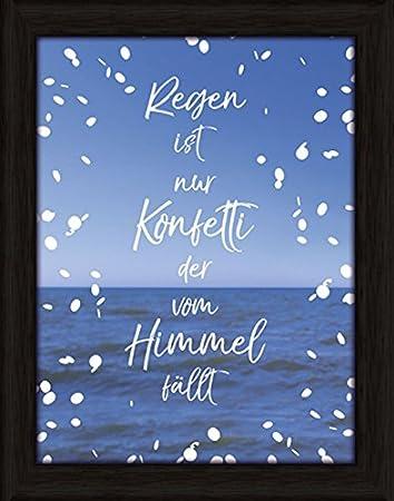 Artland Wand Bild Poster Kunstdruck Mit Rahmen Jule Regen Ist Nur