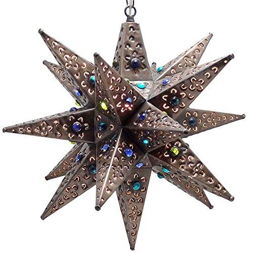 Tin Star Pendant Light in Florida - 3