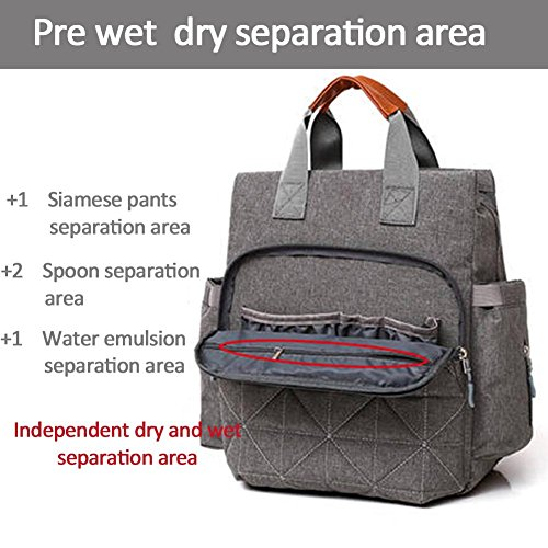 Set Red Key Mother Nylon Backpacks Grey Waterproof Clutch Wristlets 3pcs Women Domybest 5yqWUaFvSZ