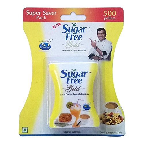 500 Tablets Sugar Free Gold Is Equal to Zero Calories Sweetener Low Calorie Sugar Substitute 500 Pellets