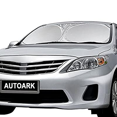Autoark AK-035 No.1 BEST Car Windshield Sunshade,Powerful UV Ray Deflector Car Sunshade To Keep Your Vehicle Cool (Large 65x33.86 Inches)