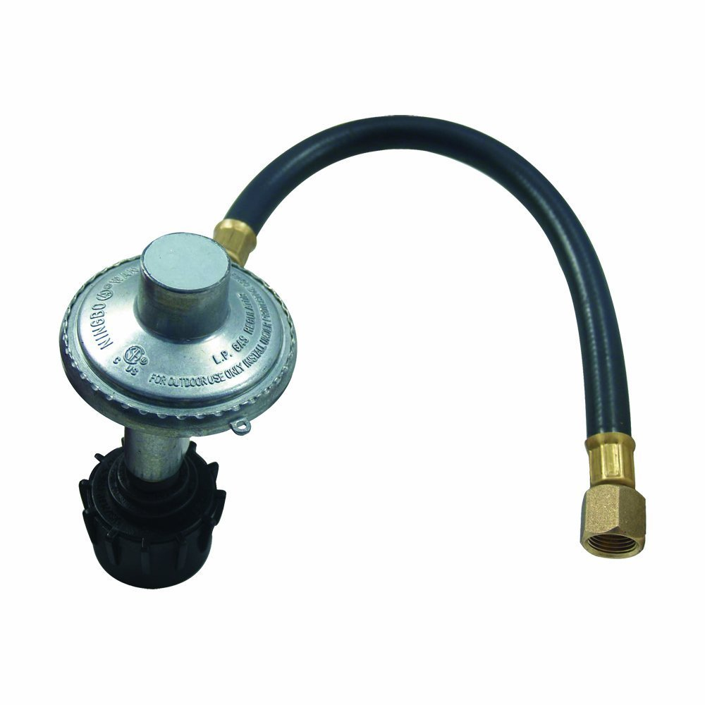 Replacement regulator and hose for gas bbq grill models from Backyard grill, Uniflame, Better Home and Gardens and other grill brands by Brinkmann