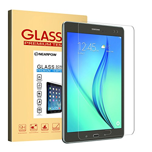 Nearpow Samsung Galaxy Tab A 9.7 Screen Protector 9.7 Inch, Tempered Glass Screen Protector with [9H Hardness] [2.5D Round Edge] [Crystal Clear] [Easy Bubble-Free Installation] [Scratch Resist]