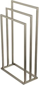 Kingston Brass SCC8261 Pedestal 2-Tier Steel Construction Towel Rack with Wooden Case Polished Chrome