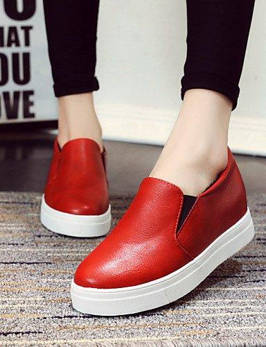 Red Cn39 Punta Rojo us8 Cn37 Eu37 Tacón De 5 Bajo 7 Eu39 Casual Exterior Uk4 5 Gyht 5 Blanco Negro Uk6 Zq Mujer Semicuero Redonda us6 Zapatos Red Mocasines aqZwHYxfOn