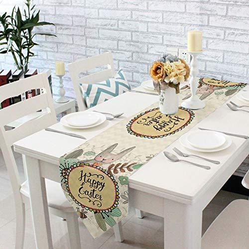 Amazon.com: BESAZW Camino de mesa de Pascua de poliéster con ...