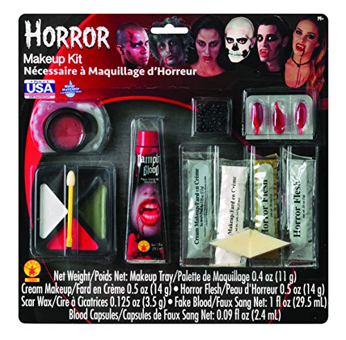 Rubie's Horror Makeup Kit, White/Multi, One Size -