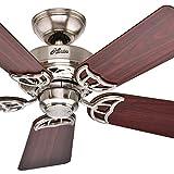 Hunter 42'' Ceiling Fan in New Bronze with 5 Dark Walnut Reversible Fan Blades (Certified Refurbished)