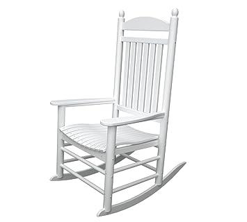 Jefferson Outdoor Polywood Rocking Chair Slat Back White