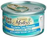 Fancy Feast Elegant Medleys for Cats, Yellowfin Tuna Primavera in a Classic Sauce with Garden Veggies and Greens, 3-Ounce Cans (Pack of 24), My Pet Supplies