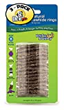 (3 Pack) PetSafe Busy Buddy Refill Ring Dog Treats For Select Busy Buddy Dog Toys, Natural Rawhide
