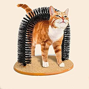 Irispets Purrfect Arch Cat Groom Self Grooming Cat Toy Cat Self Groomer, Massager and Cat Scratcher