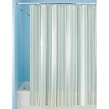 InterDesign Essex Stripe Shower Curtain, Green