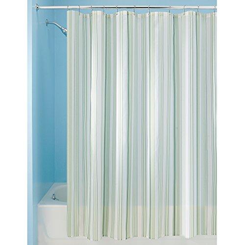 Interdesign Mini Stripe Fabric Shower Curtain 72 X 72 Coral Gray 11street Malaysia
