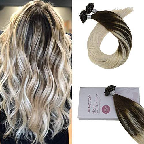 I Tip Highlight 100% Bonded Remy Haar 50 S Pro Paket Spitze Ich Haar Verlängerung Fusion Menschliches Haar Bunte Extensions Modern Und Elegant In Mode