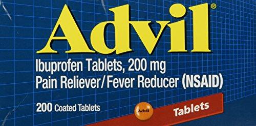 Advil Ibuprofen 200mg 200 Coated Tablets