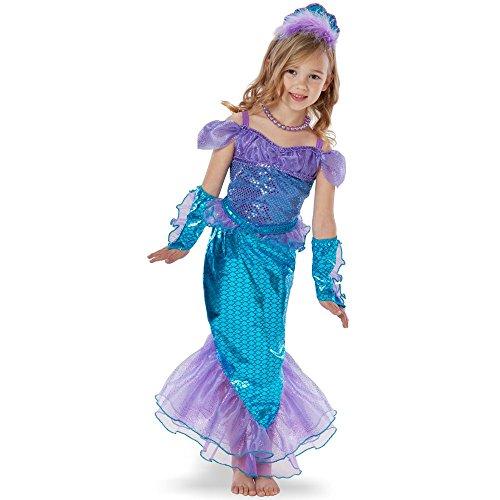 (Teetot Princess Factory Girl's Mermaid Costume with Accessories,)